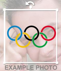 Foto efecto del logo de las olimpiadas para pegar en tus imágenes