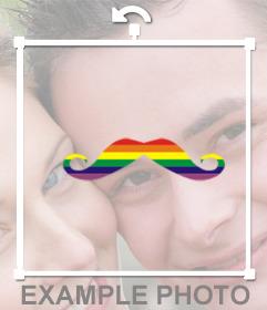 Ponte unos bigotes en tus fotos con los colores del arcoiris con este efecto