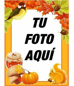 Marco para fotos de otoño