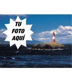 Postal del mar en Ushuaia, Tierra del Fuego
