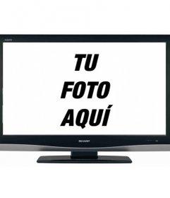 ¿Tu ilusión de siempre es salir en TV? Con este curioso fotomontaje, tu foto aparece en una pantalla de televisión LCD