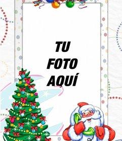 Marco de fotos con Papá Noel para poner tu foto junto a él