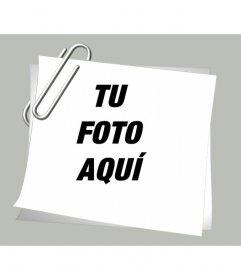 Dale a tus fotos un efecto especial con este marco de hoja con un clip