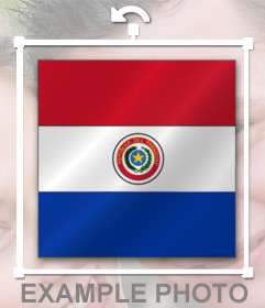 Pon la chapa de la bandera de Paraguay en tus fotos en un instante con nuestro editor online