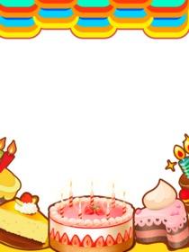 Colorido marco para fotos de cumpleaños