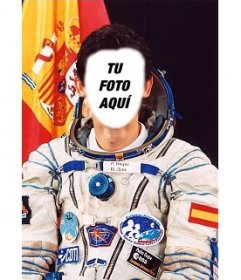Fotoefecto donde podrás poner tu cara en el cuerpo de Pedro Duque, el astronauta español