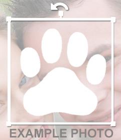 Huella blanca de perro para pegar en tus fotos como sticker