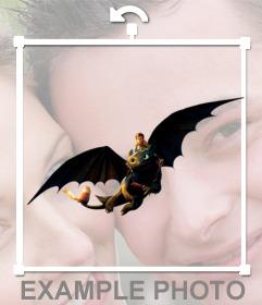 Dragón para tus fotos de -Cómo Entrenar a tu Dragón- que podrás pegar en nuestro editor