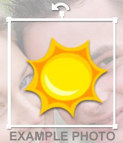 Fotomontaje en el que puedes poner un sol en tu foto como si fuera una pegatina