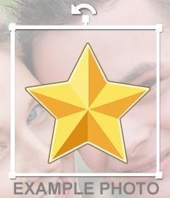 Estrella dorada para decorar tus fotos online