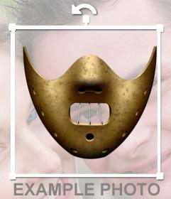 Pegatina con la máscara de Hannibal Lecter