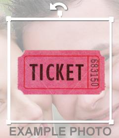 Ticket de entrada para adornar tus fotos online