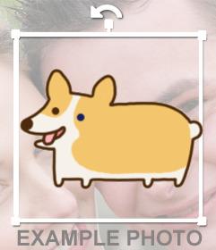 Pon un gracioso perrito de dibujos en tus fotos sacando la lengua