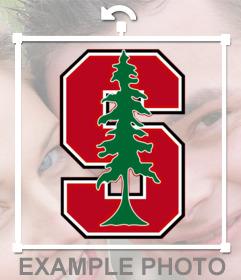 Sticker del logotipo de la universidad de Standford para insertar en tus fotos de forma online