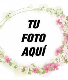Marco para añadirle bellas flores a tus fotos al rededor y gratis