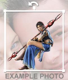 Sticker con un personaje del videojuego Final Fantasy 13