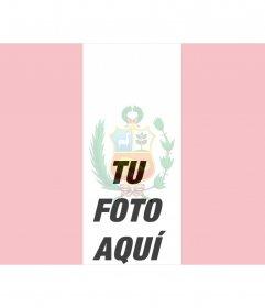 Bandera de Peru, fotomontaje online