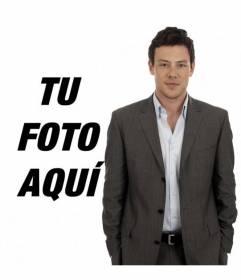 Fotomontaje con Cory Monteith, actor de la serie de TV Glee donde aparecerás a su lado en la foto