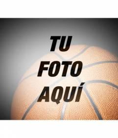 Filtro para fotos con un balón de baloncesto semitransparente para colocar sobre tus fotografías deportivas