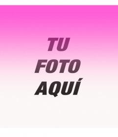 Filtro fotográfico rosa degradado desde la parte superior para personalizar tus fotos de perfil o avatares de las redes sociales online