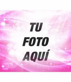 Filtro fotográfico brillante rosa con destellos y degradados para dar un efecto de fantasía a tus fotografías