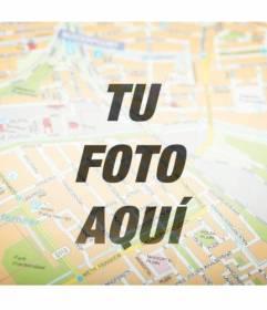 Filtro fotográfico para poner un mapa callejero sobre tu foto y personalizar con texto