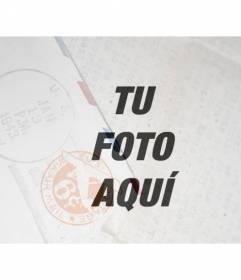 Filtro de fotos para darle un efecto vintage con una textura de carta y sello postal semitransparente