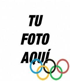 Fotomontaje para poner los aros de los juegos olímpicos en tu foto