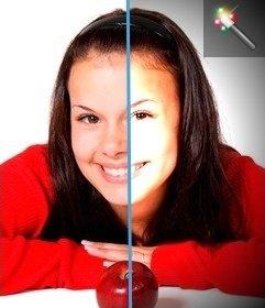 Filtro para fotos vignette, con efecto de luz en el centro de la foto
