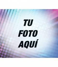 Filtro para editar fotos añadiendo un efecto psicodélico con luces turquesa y morados