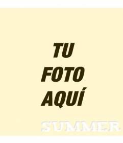 Filtro fotográfico amarillo cálido con el texto Summer escrito en la parte inferior