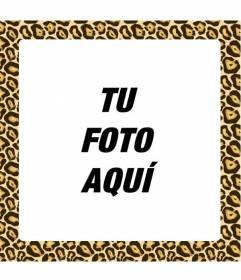 Crea fotomontajes añadiendo un marco amarillo y negro con estampado de jaguar para darles un toque moderno y cool
