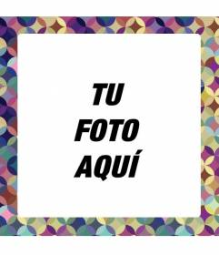 Marco par aponer tu foto de círculos de colores lilas y amarillos