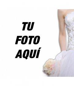 Decora tus fotos románticas con una silueta de novia
