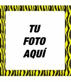 Ponle un estampado de cebra amarillo a tus fotos para rodearlas