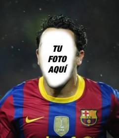 Fotomontaje para poner tu cara en un jugador del Barça