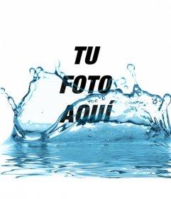 Crea un fotomontaje añadiendo agua azul a tus imágenes y diviértete compartiéndola con tus amigos por whatsapp