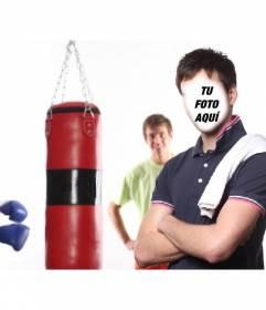 Fotomontaje para convertirte en un entrenador de boxeo