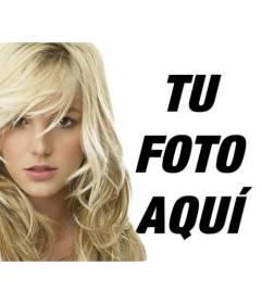 Fotomontaje con Britney Spears rubia. Ahora puedes tener una foto retrato con la cantante de Pop americana Britney Spears
