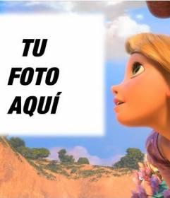 Fotomontaje con la princesa Rapunzel de Disney