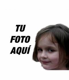 Fotomontaje con la niña pirómana, uno de los memes más populares de internet