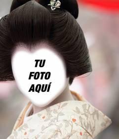 Fotomontaje de Geisha japonesa para añadir tu cara online