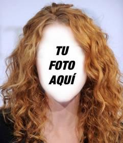 Cambia tu pelo por uno pelirrojo y rizado con este fotomontaje online