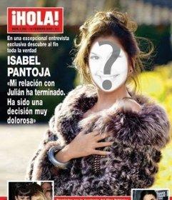 Fotomontaje con la portada de la revista ¡Hola!