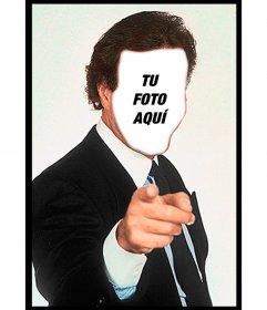 Fotomontaje de Julio Iglesias para poner tu cara y una frase y personalizar el famoso meme que está de moda en el whatsapp y redes sociales