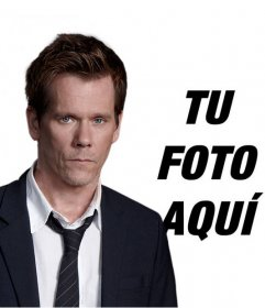 Fotomontaje para tener una foto con Kevin Bacon, actor en la serie de TV *The Following*