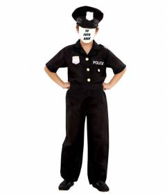 Crea este fotomontaje de un niño disfrazado de policía