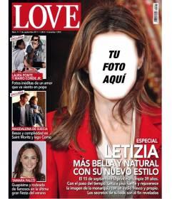 Fotomontaje con una portada de revista para poner tu cara en la de la princesa Letizia