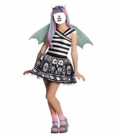 Fotomontaje donde puedes poner tu cara en la de Rochelle, la muñeca Monster High