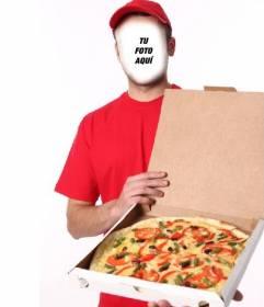 Personifica a un repartidor de pizza editando este efecto gratuito